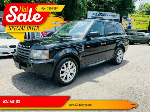 2008 Land Rover Range Rover Sport for sale at A2Z AUTOS in Charlottesville VA