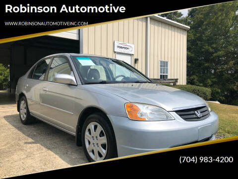 2003 Honda Civic for sale at Robinson Automotive in Albemarle NC