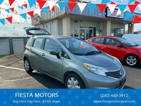 2014 Nissan Versa Note for sale at FIESTA MOTORS in Hagerstown MD