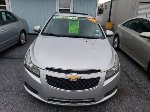 2013 Chevrolet Cruze for sale at The Back Lot in Lebanon PA