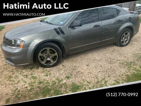 2012 Dodge Avenger for sale at Hatimi Auto LLC in Buda TX