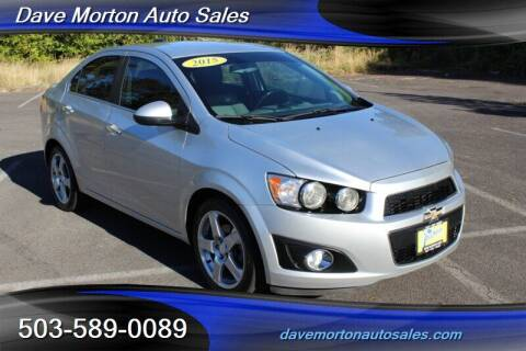 2015 Chevrolet Sonic for sale at Dave Morton Auto Sales in Salem OR