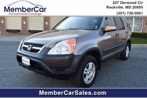 2002 Honda CR-V for sale at MemberCar in Rockville MD