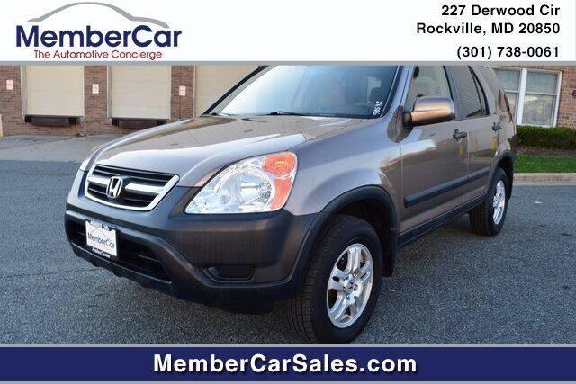 2002 Honda CR-V for sale at MemberCar in Rockville MD