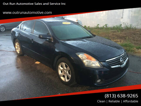 2008 Nissan Altima for sale at Out Run Automotive Sales and Service Inc in Tampa FL