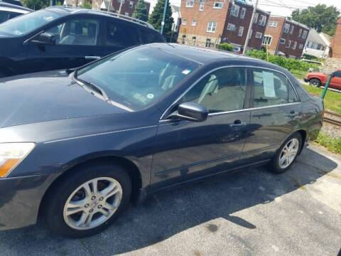 2006 Honda Accord for sale at Bottom Line Auto Exchange in Upper Darby PA
