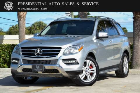 2013 Mercedes-Benz M-Class for sale at Presidential Auto  Sales & Service in Delray Beach FL