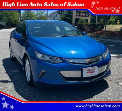 2016 Chevrolet Volt for sale at High Line Auto Sales of Salem in Salem NH