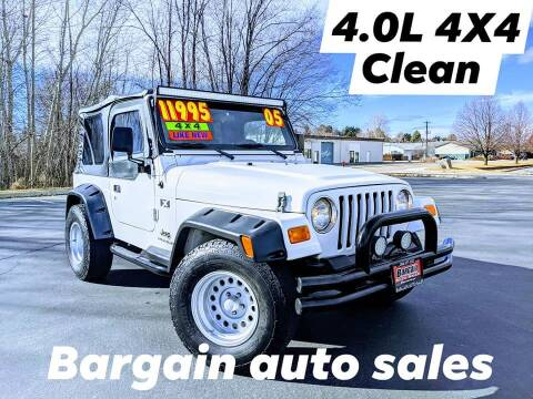 2005 Jeep Wrangler for sale at Bargain Auto Sales LLC in Garden City ID
