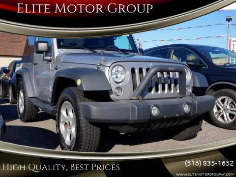 2013 Jeep Wrangler for sale at Elite Motor Group in Farmingdale NY
