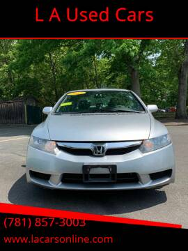 2011 Honda Civic for sale at L A Used Cars in Abington MA