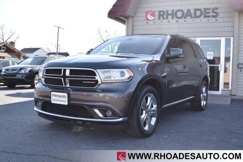 2014 Dodge Durango for sale at Rhoades Automotive in Columbia City IN