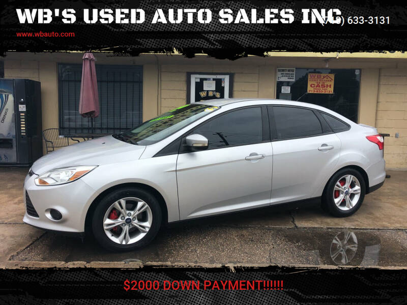 2014 Ford Focus for sale at WB'S USED AUTO SALES INC in Houston TX