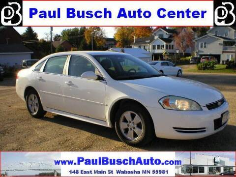 2009 Chevrolet Impala for sale at Paul Busch Auto Center Inc in Wabasha MN