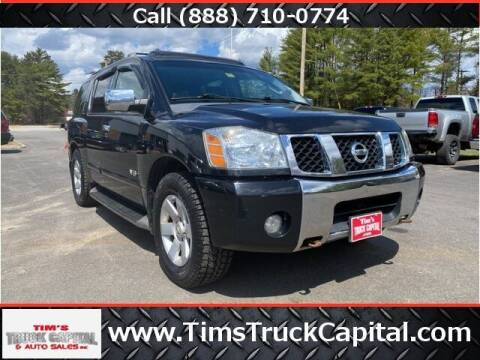 2007 Nissan Armada for sale at TTC AUTO OUTLET/TIM'S TRUCK CAPITAL & AUTO SALES INC ANNEX in Epsom NH