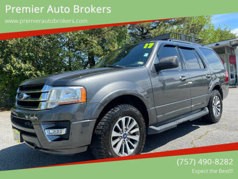 2017 Ford Expedition for sale at Premier Auto Brokers in Virginia Beach VA