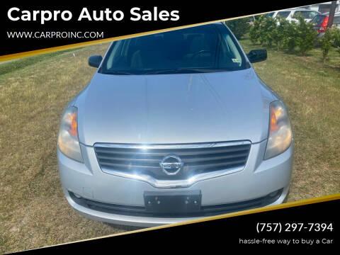 2009 Nissan Altima for sale at Carpro Auto Sales in Chesapeake VA
