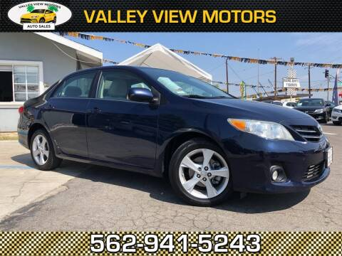 2013 Toyota Corolla for sale at Valley View Motors in Whittier CA
