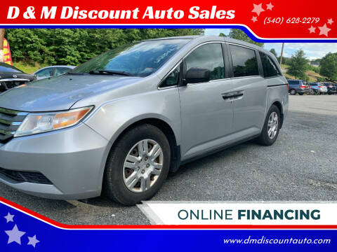 2012 Honda Odyssey for sale at D & M Discount Auto Sales in Stafford VA