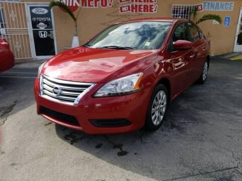 2013 Nissan Sentra for sale at VALDO AUTO SALES in Miami FL