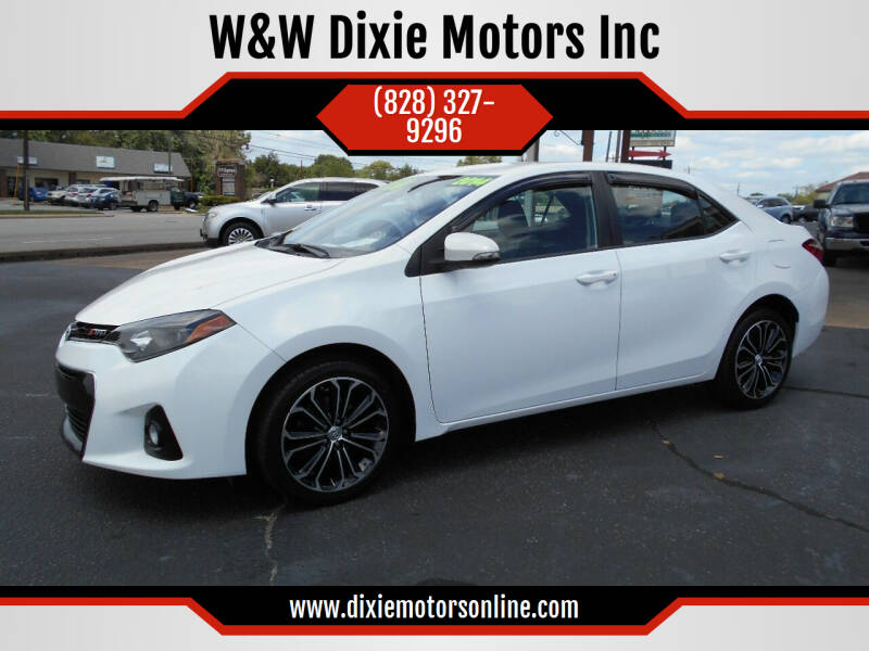 2014 Toyota Corolla for sale at W&W Dixie Motors Inc in Hickory NC