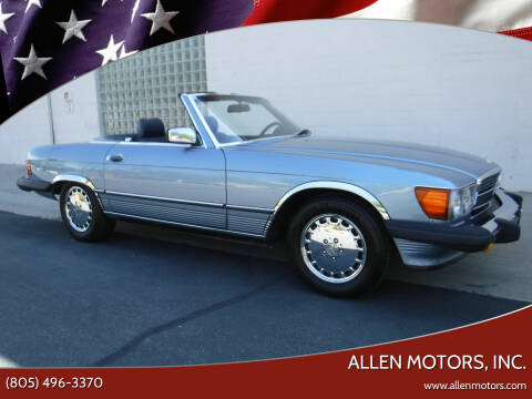 1986 Mercedes-Benz 560-Class for sale at Allen Motors, Inc. in Thousand Oaks CA