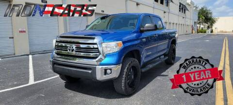 2016 Toyota Tundra for sale at IRON CARS in Hollywood FL