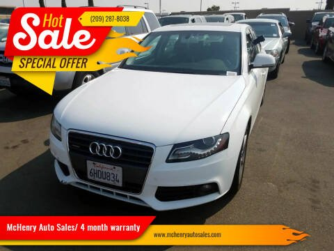 2009 Audi A4 for sale at McHenry Auto Sales in Modesto CA