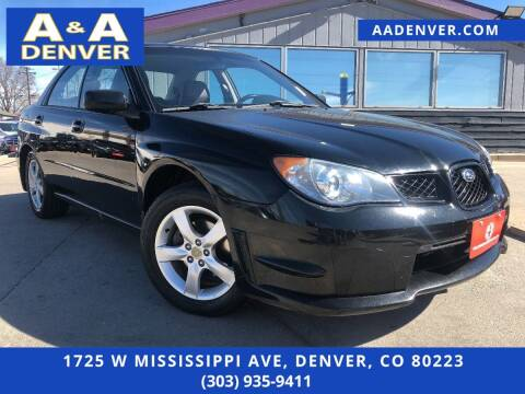 2006 Subaru Impreza for sale at A & A AUTO LLC in Denver CO