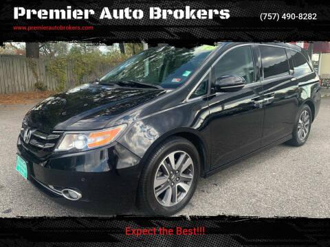 2015 Honda Odyssey for sale at Premier Auto Brokers in Virginia Beach VA