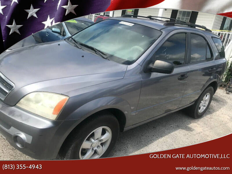 2005 Kia Sorento for sale at GOLDEN GATE AUTOMOTIVE,LLC in Zephyrhills FL