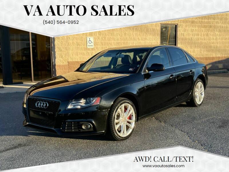 2012 Audi A4 for sale at Va Auto Sales in Harrisonburg VA