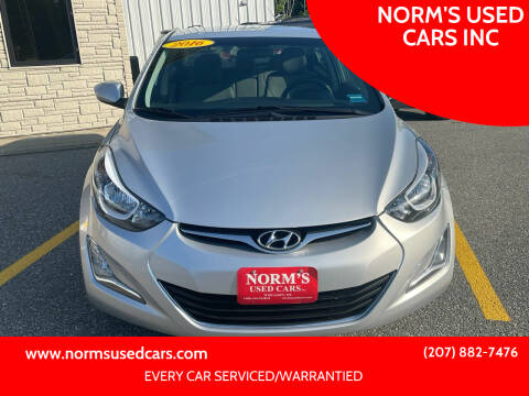 2016 Hyundai Elantra for sale at NORM'S USED CARS INC in Wiscasset ME