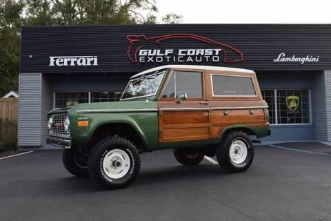 1974 Ford Bronco for sale at Gulf Coast Exotic Auto in Biloxi MS
