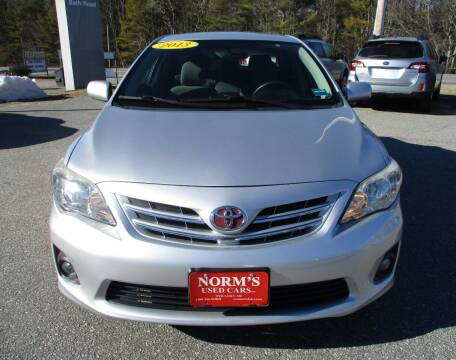 2013 Toyota Corolla for sale at NORM'S USED CARS INC in Wiscasset ME