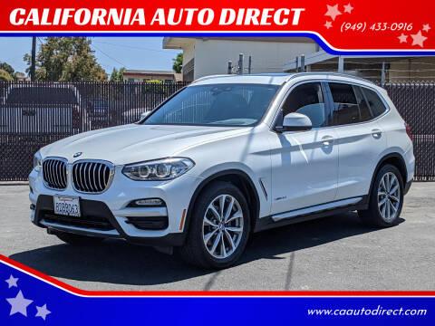 2018 BMW X3 for sale at CALIFORNIA AUTO DIRECT in Costa Mesa CA