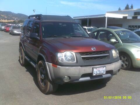 2002 Nissan Xterra for sale at Mendocino Auto Auction in Ukiah CA