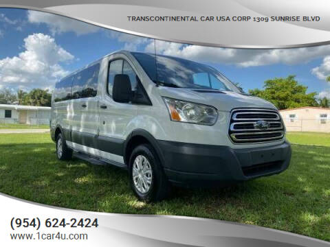 2015 Ford Transit Passenger for sale at Transcontinental Car in Fort Lauderdale FL