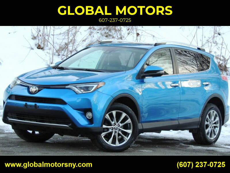 2016 Toyota RAV4 for sale at GLOBAL MOTORS in Binghamton NY