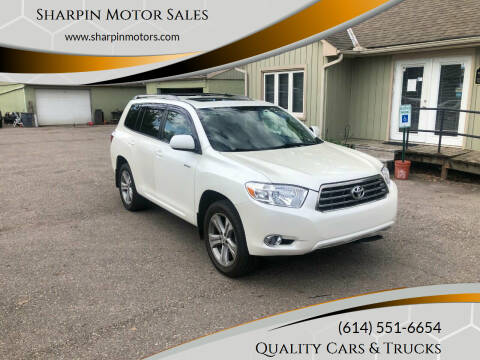 2008 Toyota Highlander for sale at Sharpin Motor Sales in Columbus OH