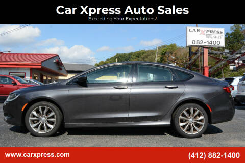 2016 Chrysler 200 for sale at Car Xpress Auto Sales in Pittsburgh PA