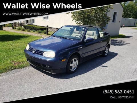 2001 Volkswagen Cabrio for sale at Wallet Wise Wheels in Montgomery NY