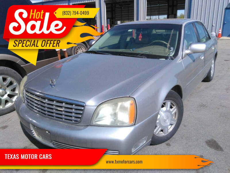 2004 Cadillac DeVille for sale at TEXAS MOTOR CARS in Houston TX