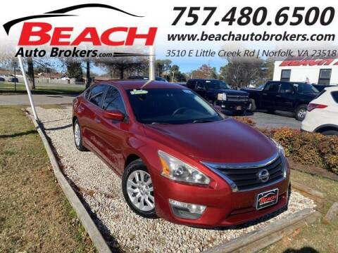 2014 Nissan Altima for sale at Beach Auto Brokers in Norfolk VA