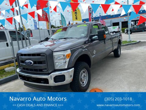 2011 Ford F-250 Super Duty for sale at Navarro Auto Motors in Hialeah FL