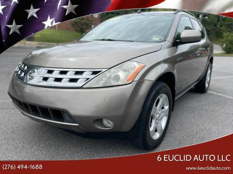 2003 Nissan Murano for sale at 6 Euclid Auto LLC in Bristol VA