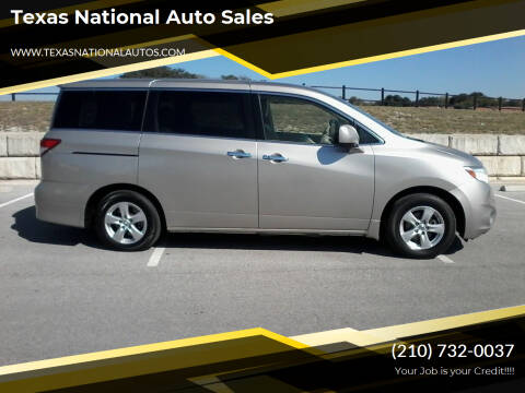 2013 Nissan Quest for sale at Texas National Auto Sales in San Antonio TX