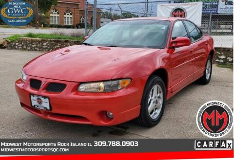 2001 Pontiac Grand Prix for sale at MIDWEST MOTORSPORTS in Rock Island IL