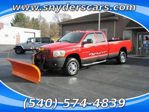 2006 Dodge Ram Pickup 2500 for sale at Snyders Auto Sales in Harrisonburg VA