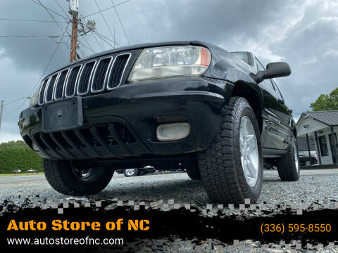 2001 Jeep Grand Cherokee for sale at Auto Store of NC in Walkertown NC